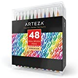 Arteza Real Brush Pens - 48-Colors - Watercolor Markers - (Set of 48)