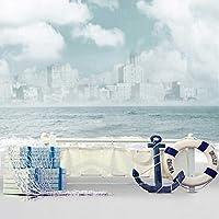 6x8ft Vinyl Nautical Anchor Sailor Lifebuoy Life Ring Paddle Photo Studio Backdrop Background