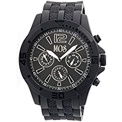MOS Men's MOSMD106 Madrid Black Silicone Watch