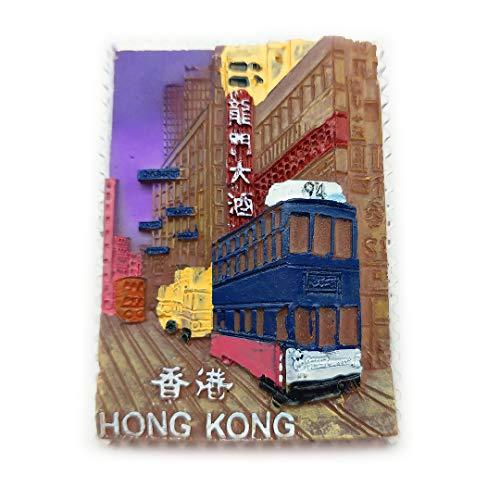 Longmen Hotel Hong Kong China 3D Refrigerator Fridge Magnet Travel City Souvenir Collection Kitchen Decoration White Board Sticker Resin]()