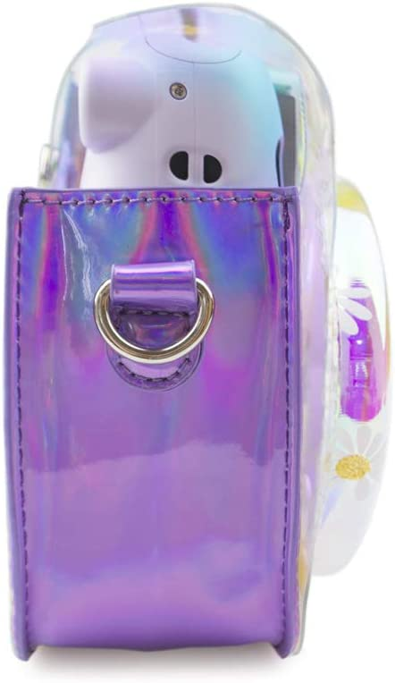 Muziri Kinokoo Schutzhülle Für Fujifilm Instax Mini 11 Tasche Magic Transparent Farbe Tragetasche Pu Leder Hülle Mit Foto Aufkleber Lila Elektronik