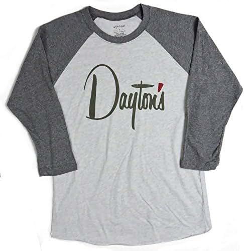 Bygone Brand Daytons 3/4 Sleeve Raglan Baseball Tee - Minneapolis St Paul Men's Longsleeve T-Shirt