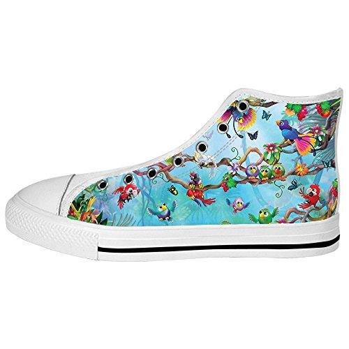 El Pago De Visa En Línea Custom Uccello e foresta Womens Canvas shoes I lacci delle scarpe scarpe scarpe da ginnastica Alto tetto Mejor Precio Al Por Mayor Barata De Descuento En Busca De Paypal Con El Precio Barato Suministro xaYdfm