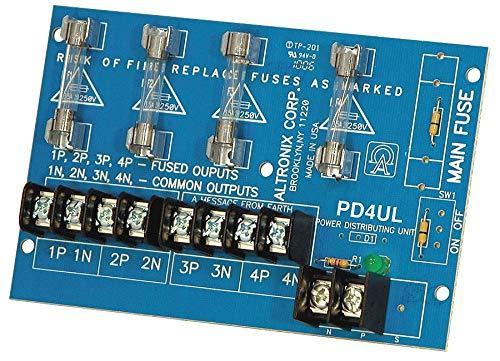 Altronix Phenolic or Fiberglass Power Dist Module 4 Output Fuse - PD4UL