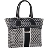 Ninewest Luggage Sign Me Up 17 Inch Tote Bag, Black/Ivory, One Size