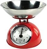 Konig HC-KS60R, Bilancia Analogica da Cucina, Colore Rosso