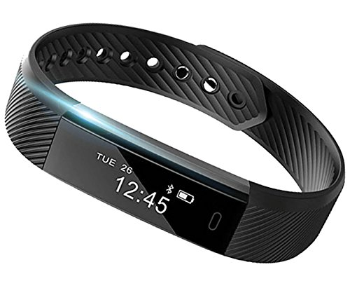 Smart Band: Heart Rate Monitor Fitness Activity Tracker Watch Step Walking Sleep Counter Wireless Wristband Pedometer Exercise Tracking Sweatproof Sports Bracelet ALL iPhone ALL Android Smart Phones by E Tronic Edge
