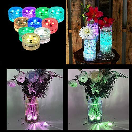 Melon Boy Submersible Led Lights,Underwater Waterproof Bath Lights with Remote Control for Hot Tub,Vase Base,Pond,Pool,Aquarium,Party,Fish Tank,Home Decorations Mood Lights 10pcs by Melon Boy (Image #3)