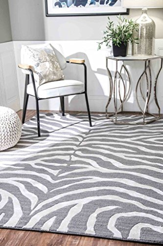 Attractive NuLOOM Contemporary Zebra Print With Faux Silk Highlights Area Rugs