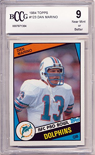 1984 Topps Dan Marino Rookie Card Graded BCCG 9