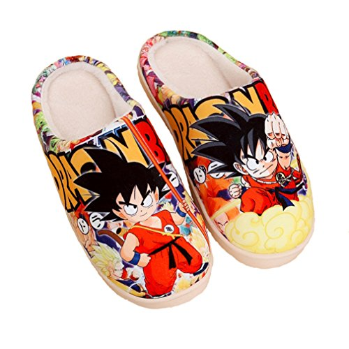 Bromeo Dragon Ball Anime Super Soft Warm Home Slippers Cute Plush Shoes VQqifOw