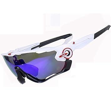 X-TIGER PHMAX Ciclismo Gafas de Sol polarizadas 100% UVA UVB protección Ocular Gafas 5 Lente Correr Surf Disparo Pesca de conducción Hombre Mujer: ...