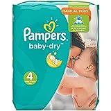 Pampers Baby Dry  - Pañales para bebés, Talla 4 (7-18kg), 174 unidades