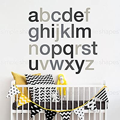 Alphabet Wall Decal - Scheme C - Small - by Simple Shapes: Baby