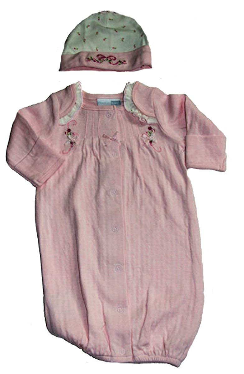 Vitamins Preemie Baby-Girls Pink Bow Gown with Cap