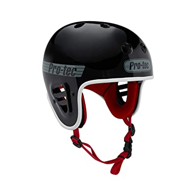 Pro-Tec Gloss Black Fullcut Certified Skateboarding Helmet : Sports & Outdoors
