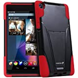 Fosmon HYBO-V Detachable Hybrid TPU + PC Kickstand Case for Google Nexus 7 FHD Tablet (2nd Generation, 2013) (Red / Black)