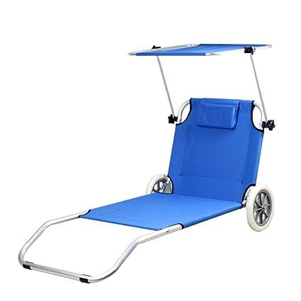 Tumbona plegable Muebles para exteriores Club de yates Silla rodante con ruedas Silla de playa con ...
