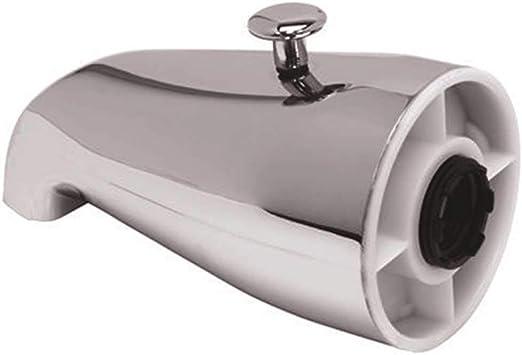 BATH SPOUT WITH DIVERTER CHOME PLATED ZINC BATH TUB SPOUT WITH SHOWER DIVERTER