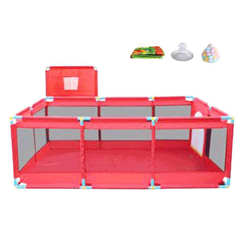 Foldable Playardボール付きのポータブルプレイペンNursury CenterベビープレイマットマットレスExtra Large Infant BasketフリースタンディングPlaypen (サイズ さいず : With basket box) With basket box  B07H81XYZ6