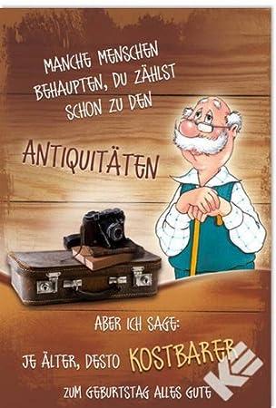 Karte Geburtstag Motiv Humor Alter Mann Koffer 5 Stuck Amazon De