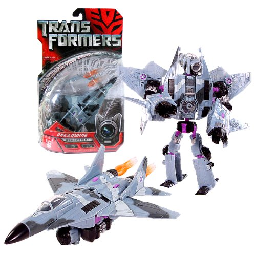 Hasbro Year 2007 Transformers Movie Series 1 Deluxe Class 6 Inch Tall Robot Action Figure - Decepticon DREADWING with 2 Missile Launchers and 2 Missiles (Vehicle Mode: Fighter Jet) (Decepticon Jet)