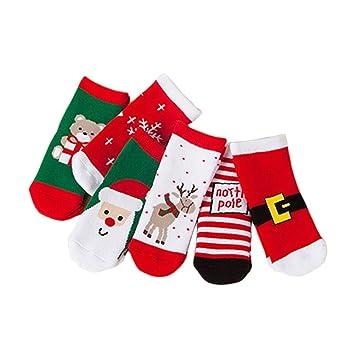 BESTOYARD Medias de Navidad de 6 Pares Invierno Elegante Algodón Niño Calcetines Tubo Combinado Medio (Calcetines Aleatorios Mixtos de Navidad): Amazon.es: ...