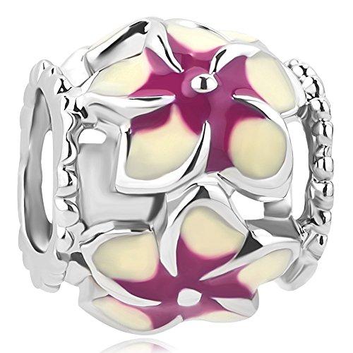 CharmSStory Orchid Flower Enamel Bracelets