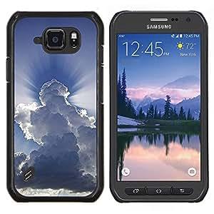LECELL--Funda protectora / Cubierta / Piel For Samsung Galaxy S6Active Active G890A -- Dios Awe Inspiring Nubes Cielo Azul --