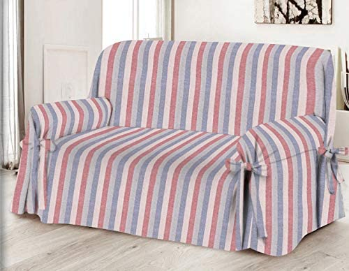 Machine Washable Stains Dirt HomeLife High Quality Cotton Sofa Cover for Armchairs Armchair - Red Made in Italy Dog and Cat Hair Settee and Love seat Protector From Dust
