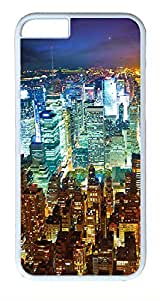 ACESR City At Night iPhone 6 Hard Shell Case Polycarbonate Plastics Protective Case for Apple iPhone 6(4.7 inch) White