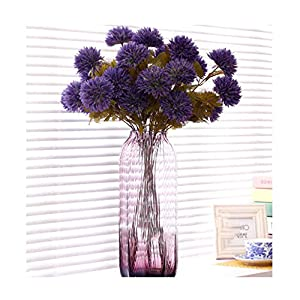 Autumn 3 Heads/Bouquet Ball Chrysanthemum Silk Daisy Artificial Decorative Floor Flower Home/Hotel Decoration 11pcs/lot,C 91