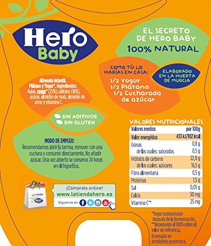 Hero Baby Merienda Merienda Plátano y Yogur - Paquete de 2 x 130 gr - Total: 260 gr: Amazon.es: Amazon Pantry
