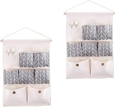 3 PCS Hanging Storage Bag Closet Linen Wall Mounted Storage Pockets Over The Door Organizer for Bedroom Bathroom Office