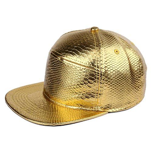 de sombrero ala plana la Gorra en PU MCSAYS del de hebilla de Snapback cuero del del de de serpiente la de cocodrilo cinturón del piel relieve la de Oro patrón béisbol Hombre H7vx6nq7a