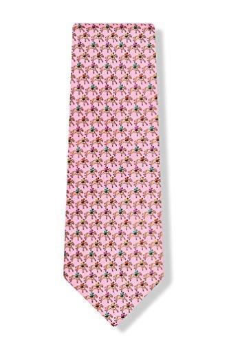 Pink Silk Tie | One Horse Race Silk Tie (Wild Race Horse)