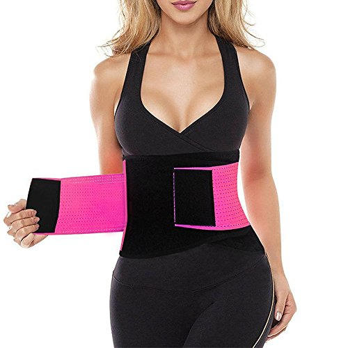 Waist Cincher Corset Lingerie Shapewear Tummy Girdle for Weight Loss L Pink