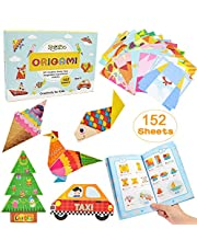 ZesNice Origami Paper Kit for Children, 152 Page Double Sided Origami Paper Patterned 72 Projects for Kids Beginners Trainning and School Craft Lessons Ideal Christmas Birthday Gifts for Girls Boys