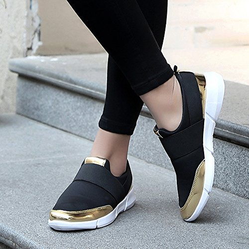 e82fddaadd877 TnaIolra Women Shoes Mesh Loafers Breathable Flat Soft Running Gym Sandals  Black