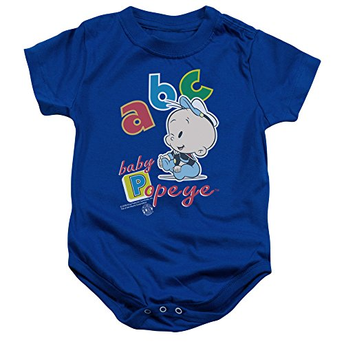 POPEYE/ABC - INFANT SNAPSUIT - ROYAL - small (6 Mos) (Baby Popeye)