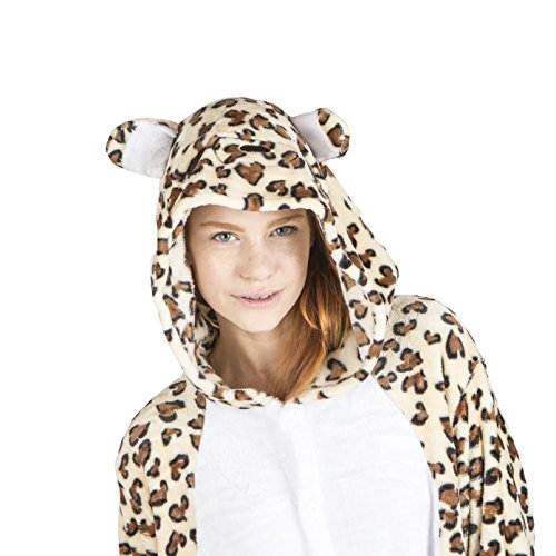 Leopard Costumes For Adults (Unisex Pajamas Leopard Costume for Adults (Size:Medium))
