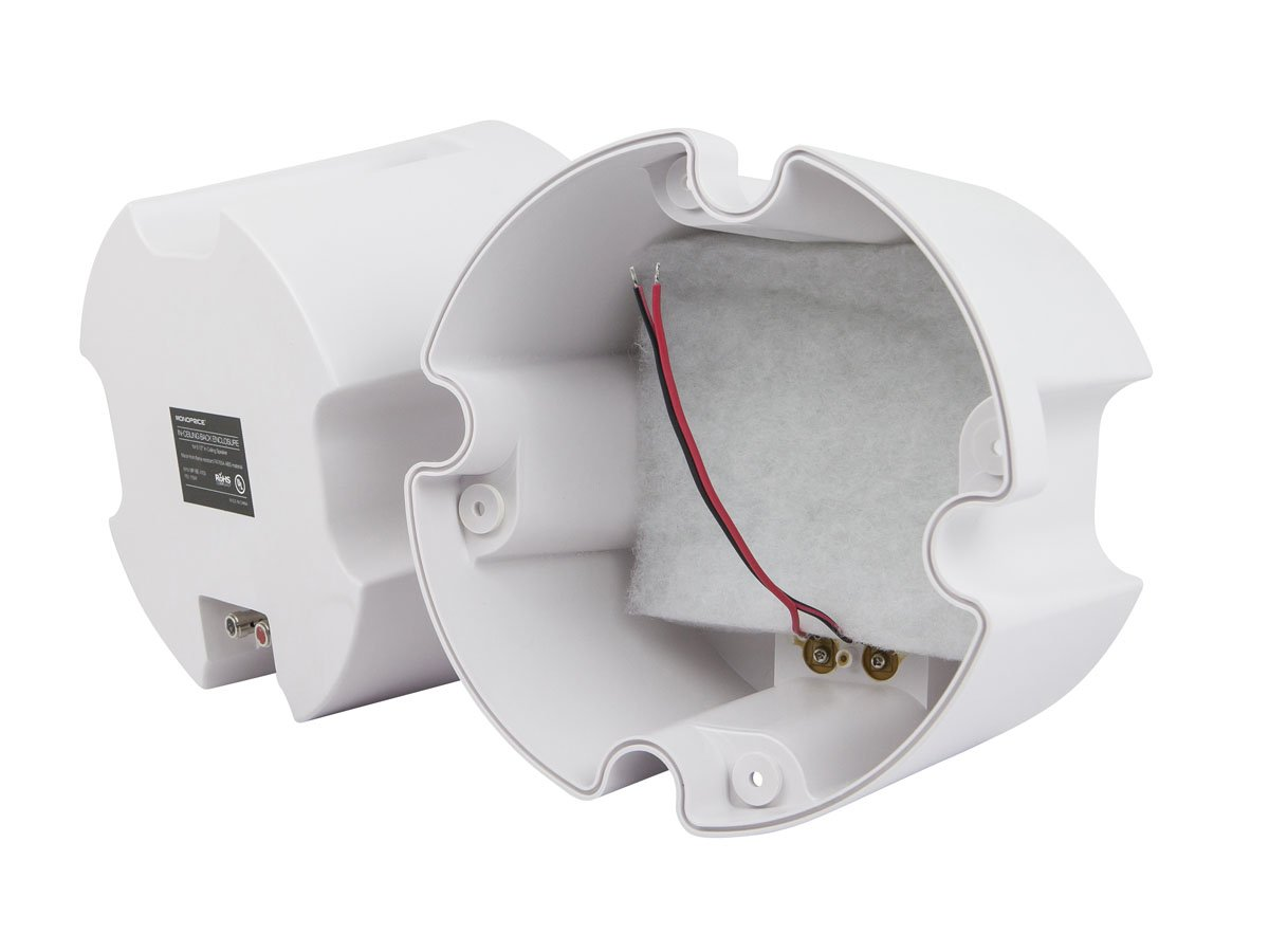 Monoprice ABS Back Enclosure (Pair) for PID 4103, 6.5in Ceiling Speaker (Will not Work for PIDs 4102 or 4104)