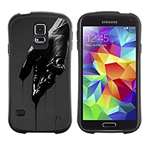 "Hypernova Slim Fit Dual Barniz Protector Caso Case Funda Para Samsung Galaxy S5 [Dolor Mano Oscura emotivo profundo corte""]"