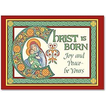 Amazon.com : Celtic Deluxe Religious Christmas Cards Irish ...
