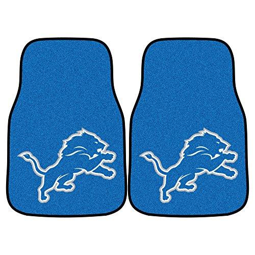 Fanmats NFL Detroit Lions Nylon Face Carpet Car (Detroit Lions Nfl Floor)