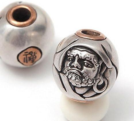 925 Silver Bodhidharma Parachute Cord Buddha Beads Charm Jewelry Tibet Buddhist