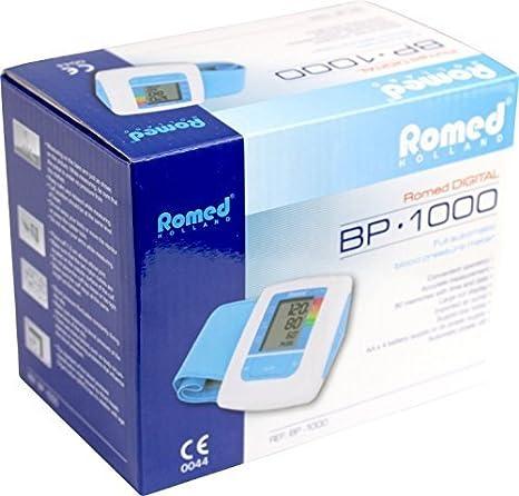 Tensiómetro vollautomatisch Digital con Función de memoria BP1000Incluye Pilas de romed: Amazon.es: Salud y cuidado personal