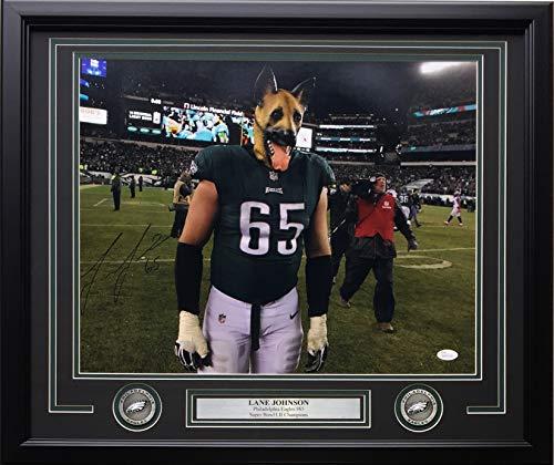 Lane Johnson Signed Framed 16x20 Philadelphia Eagles Underdogs Photo JSA ITP