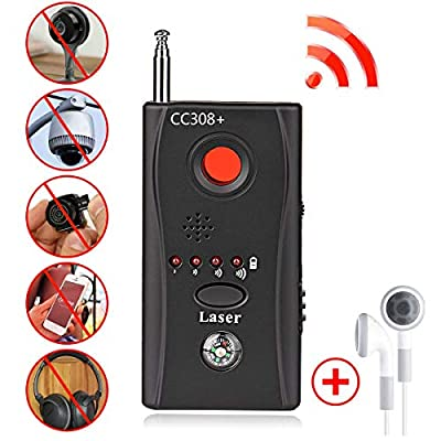 Bug Detector,RF Anti-Spy Wireless Detector,Hidden Camera Pinhole Laser Lens GSM Device Finder,Full-Range All-Round Portable Detector for Eavesdropping, Candid Video, GPS Tracker by BQYPOWER