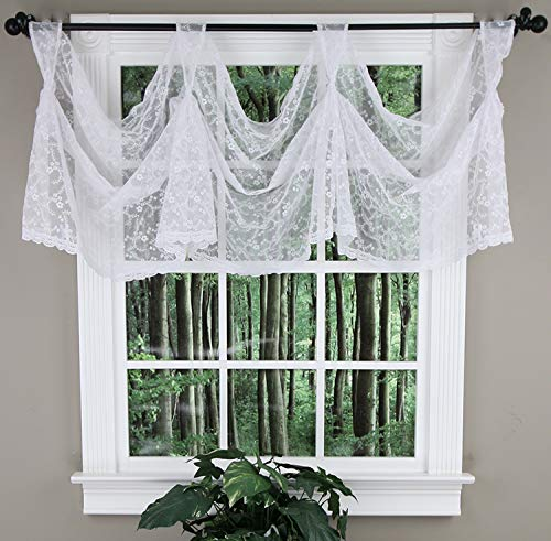 - Priscilla Lace Victory Valance : Color - WHITE